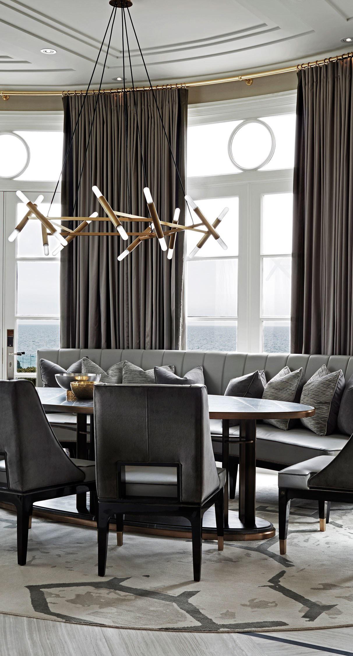Sophisticated Breakfast Nook | Luxury Kitchen Ideas