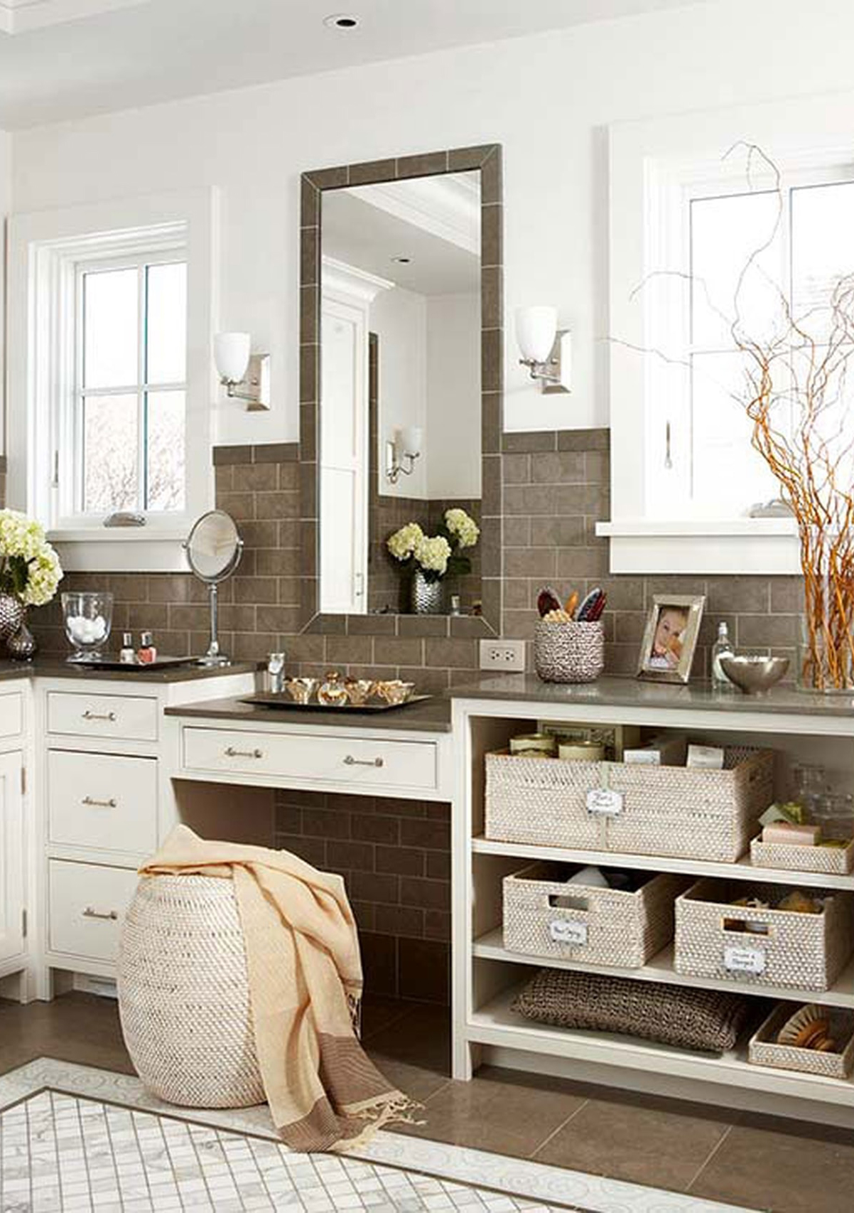 Stylish Bathroom Storage