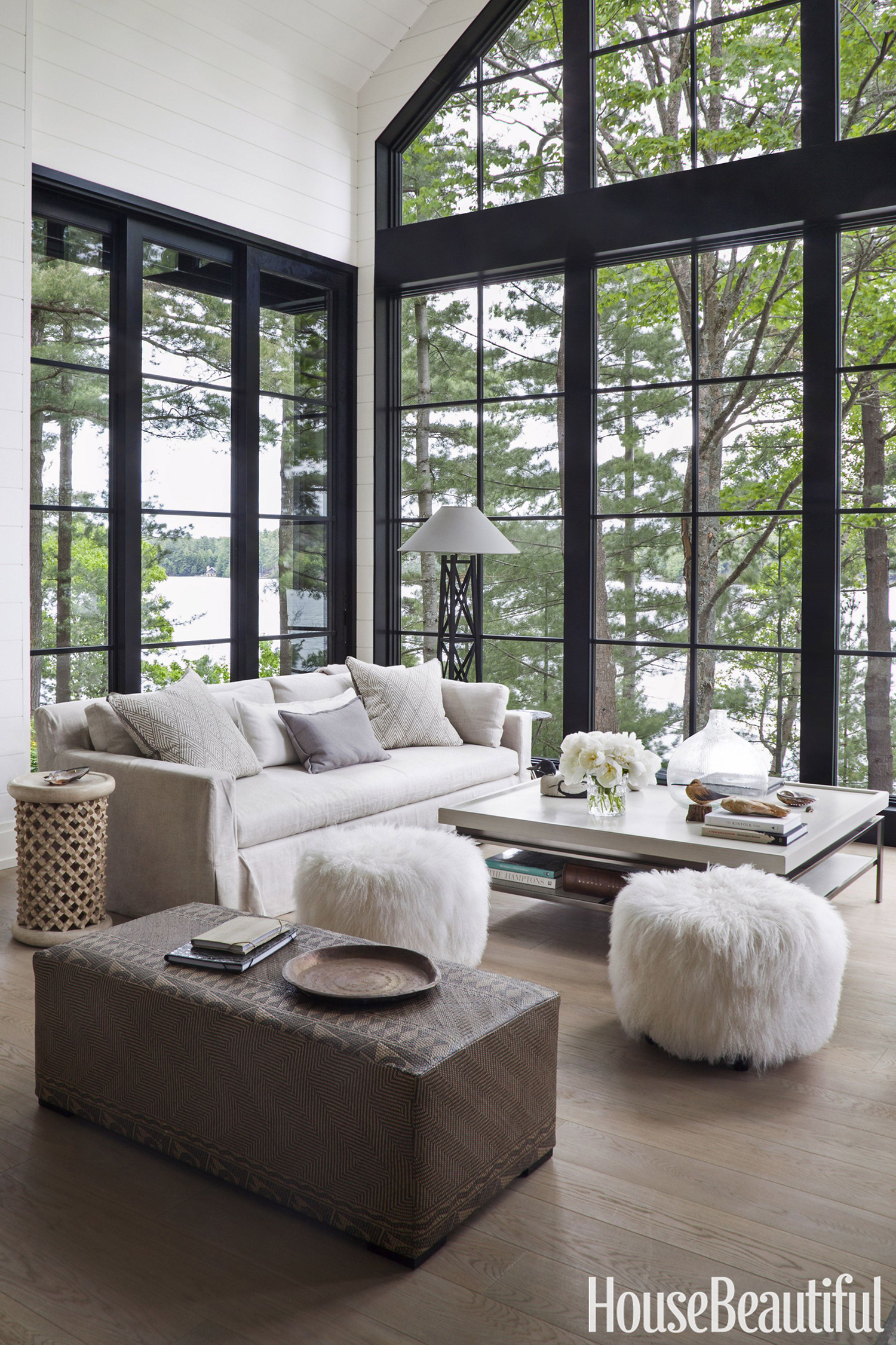 Stylish White Living Room