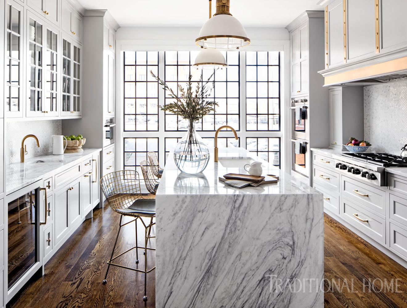 Glamorous White Kitchen