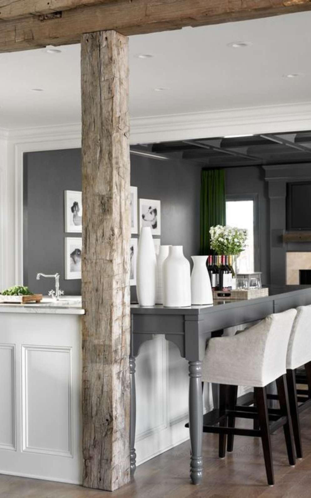 Modern Rustic White Kitchen