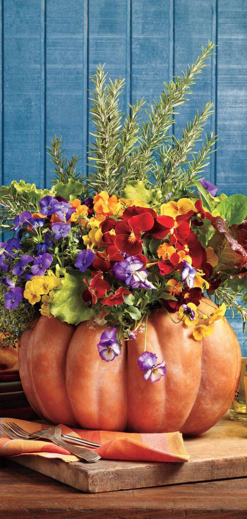 Fall Pumpkin Floral Arrangment