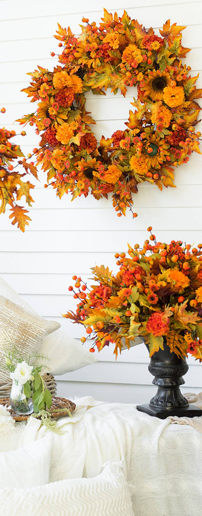 Outdoor Sunburst Mums | Fall Decorations For Outside