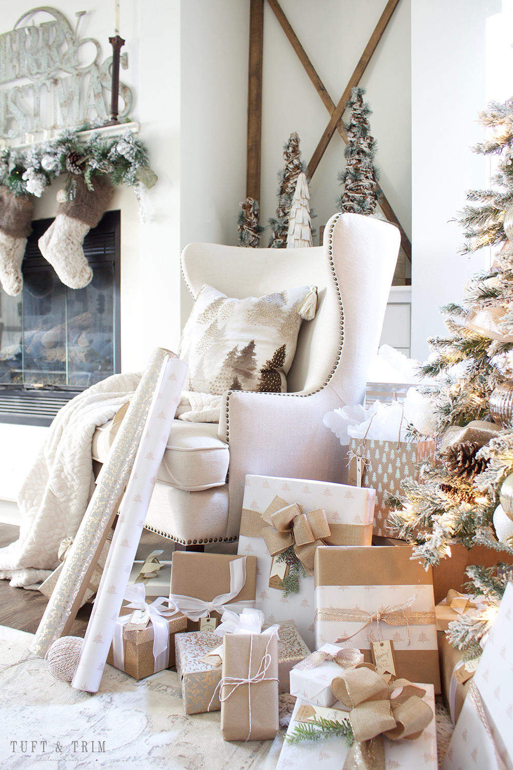 Champagne and White Christmas | Tuft & Trim Blog
