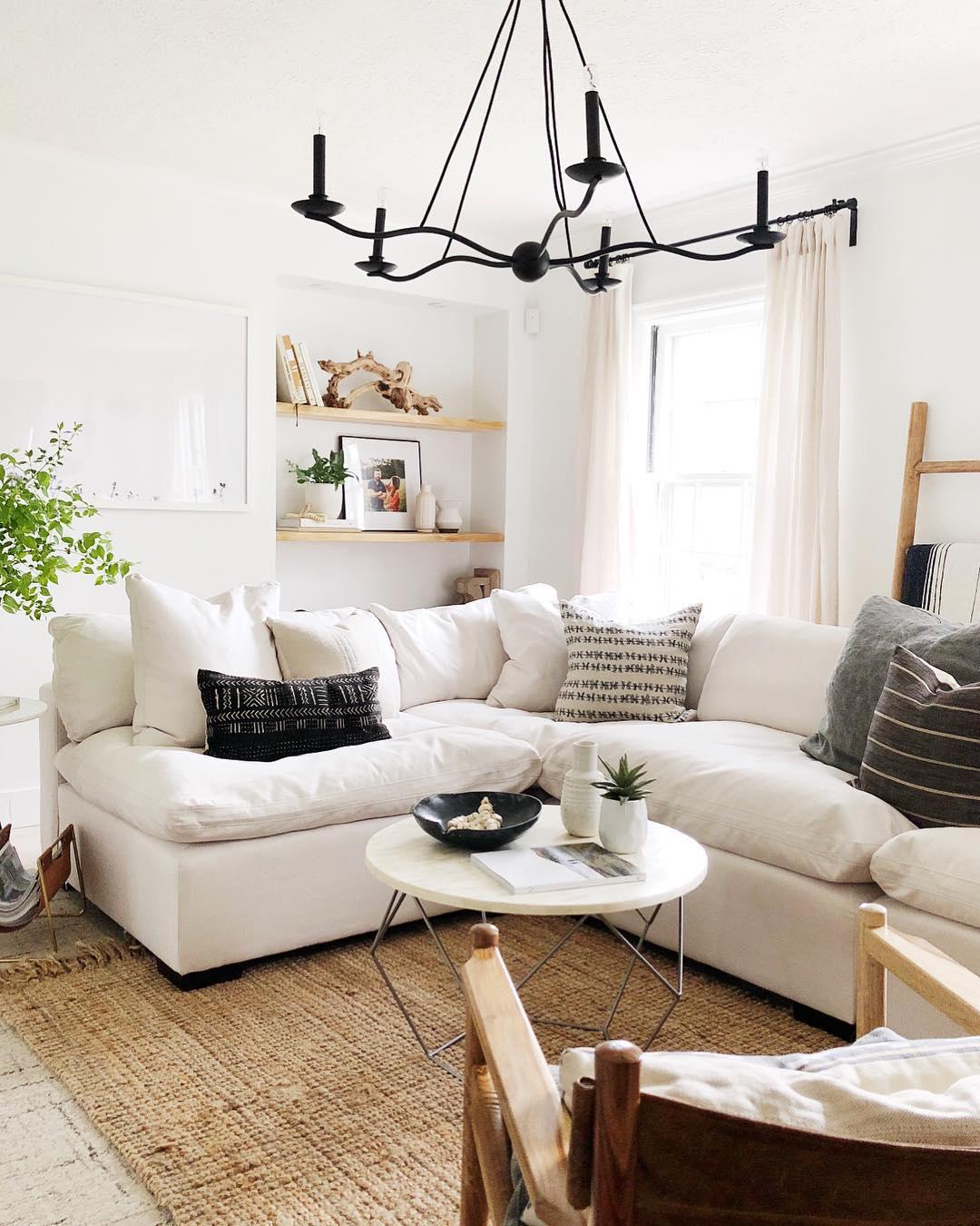 Comfy White Living Room