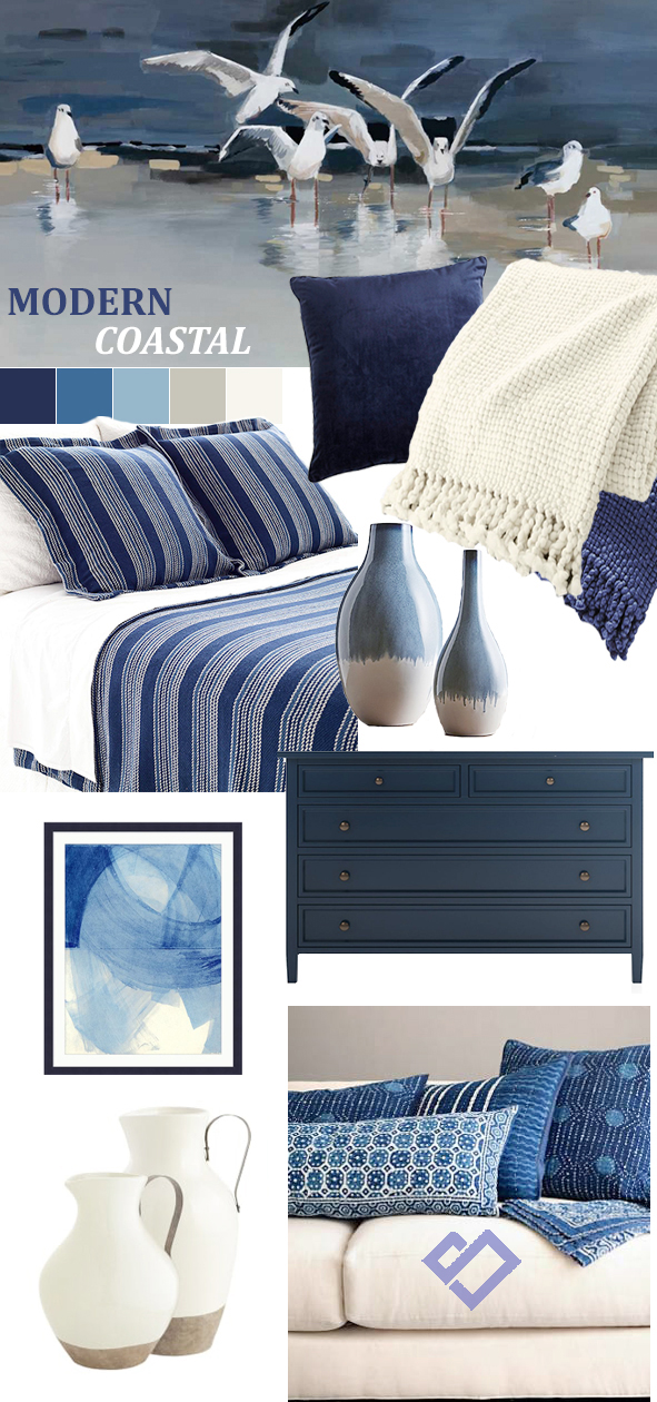 Modern Coastal Decorating Ideas | Designed by Tracy Svendsen | Buyer Select Blog
