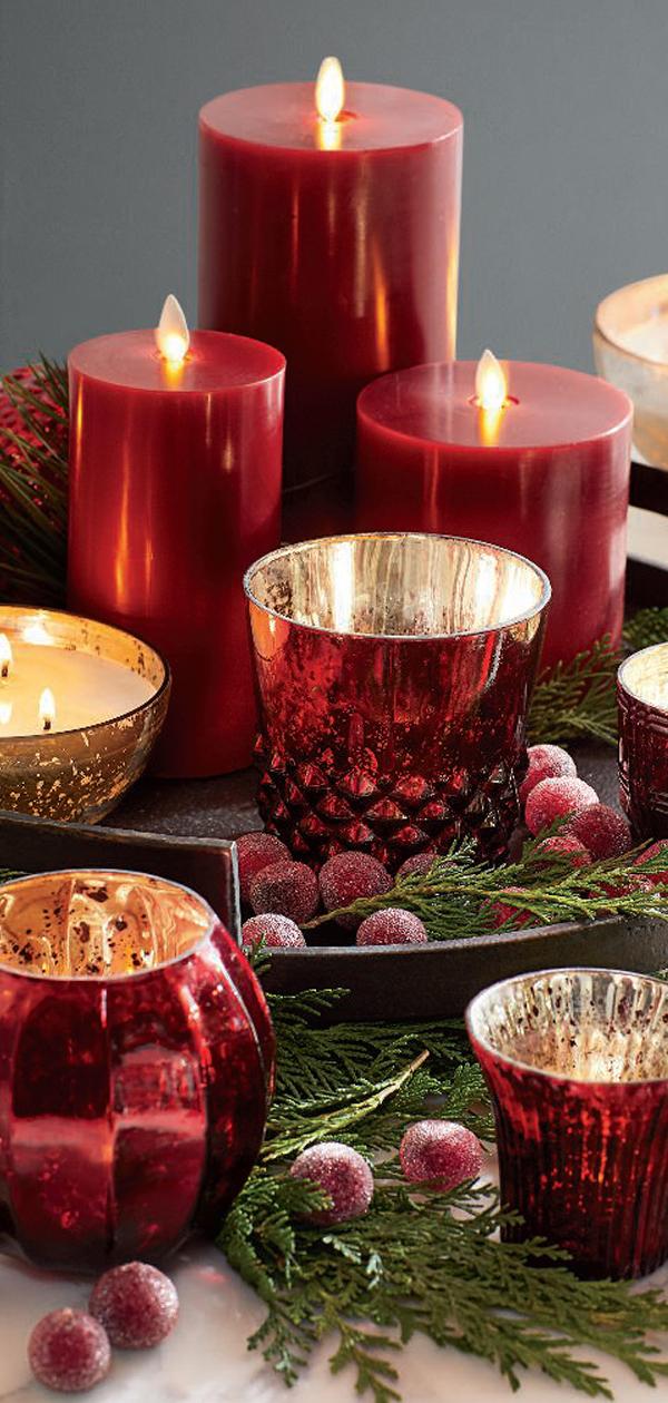 Christmas Candles & Votives   Christmas Decorating Ideas