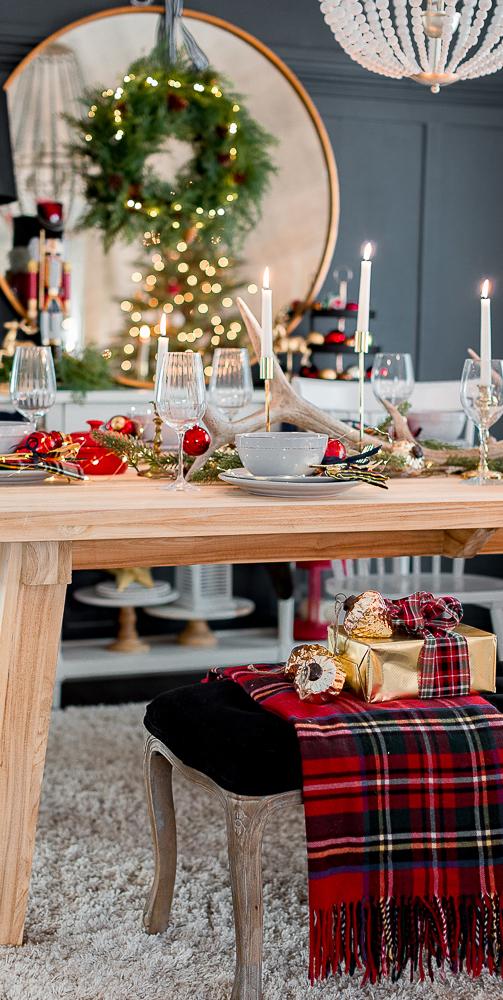 Traditional Christmas Tablesetting   Craftberry Bush Blog