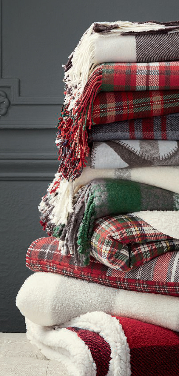Christmas Blankets & Throws   Christmas Decorating Ideas