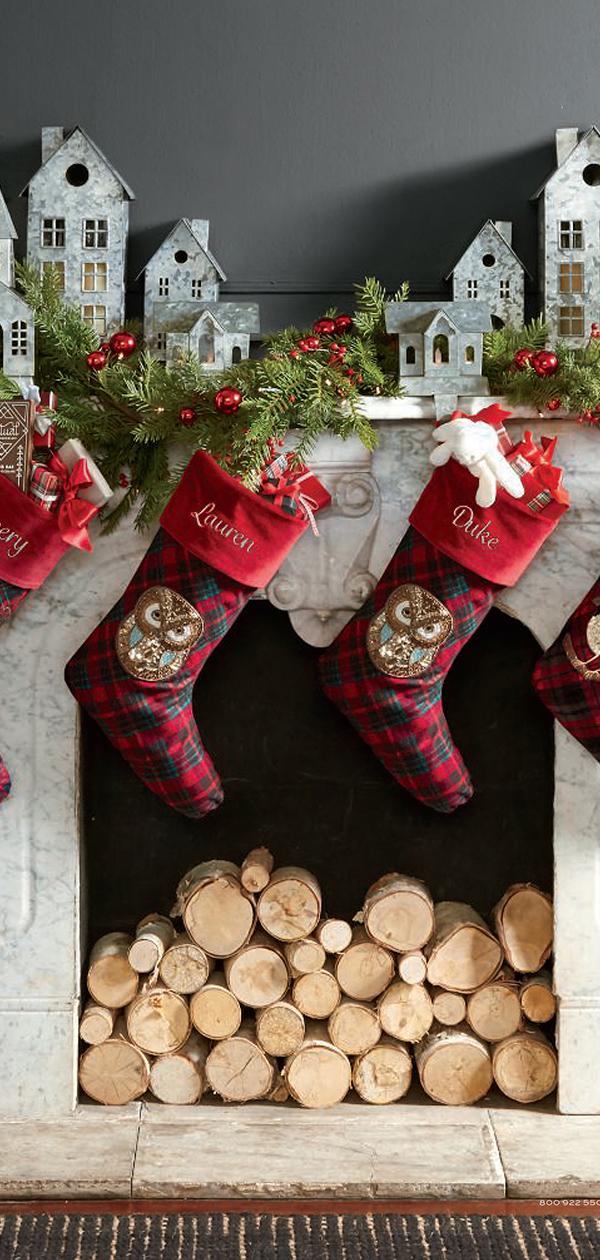 Plaid Christmas Stockings   Christmas Decorating Ideas