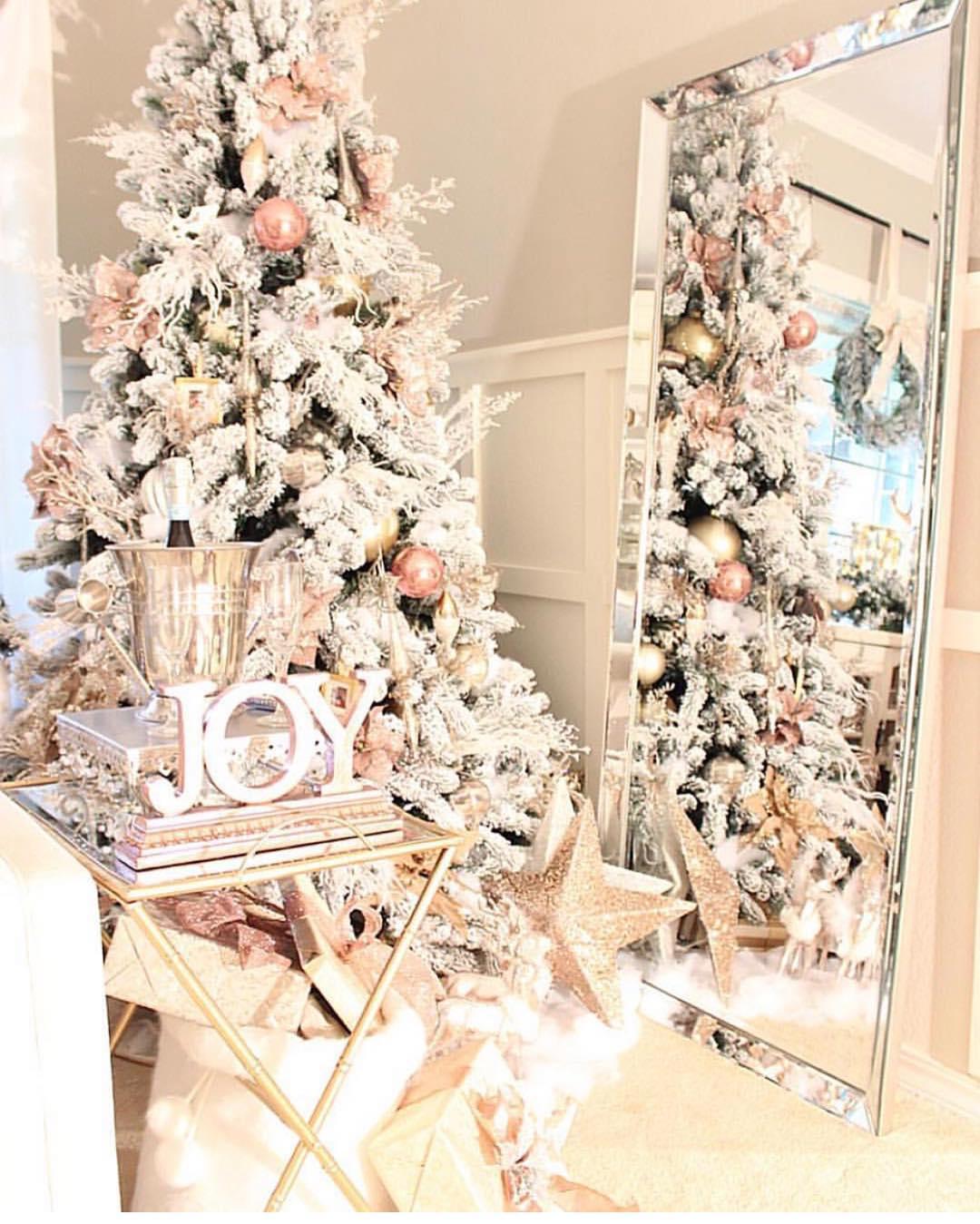 Glamorous Blush Christmas Tree   El Peterson Design