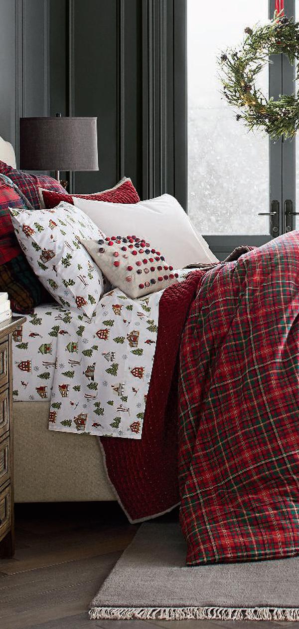 Plaid Christmas Bedding   Christmas Decorating Ideas