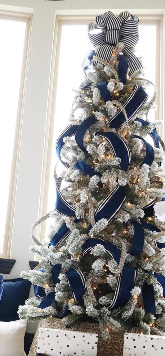 Blue Christmas Tree   Melissa Roberts Interiors