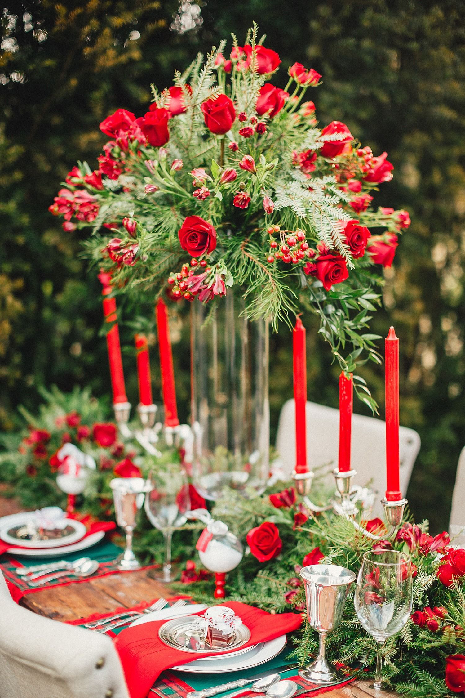 Bluebird Christmas Tablescape