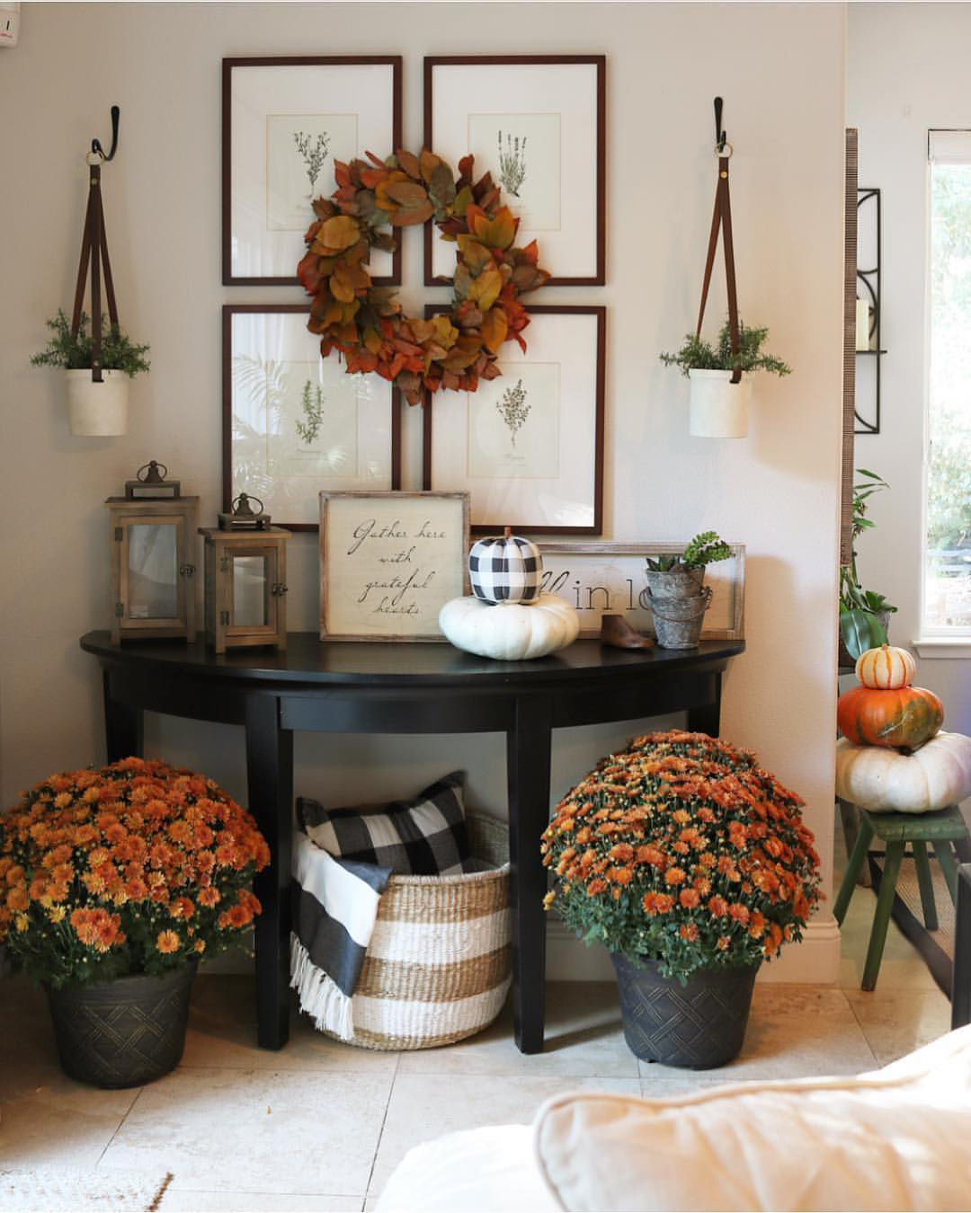 Fall Entryway | The Design Twins
