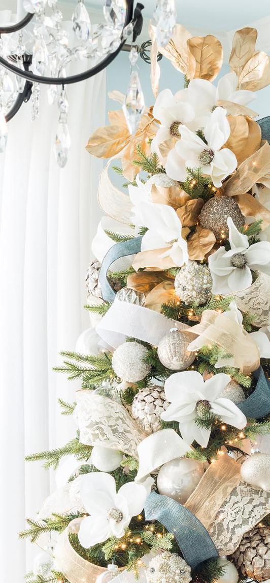 Peach & Blue Christmas Tree   Kelley Nan
