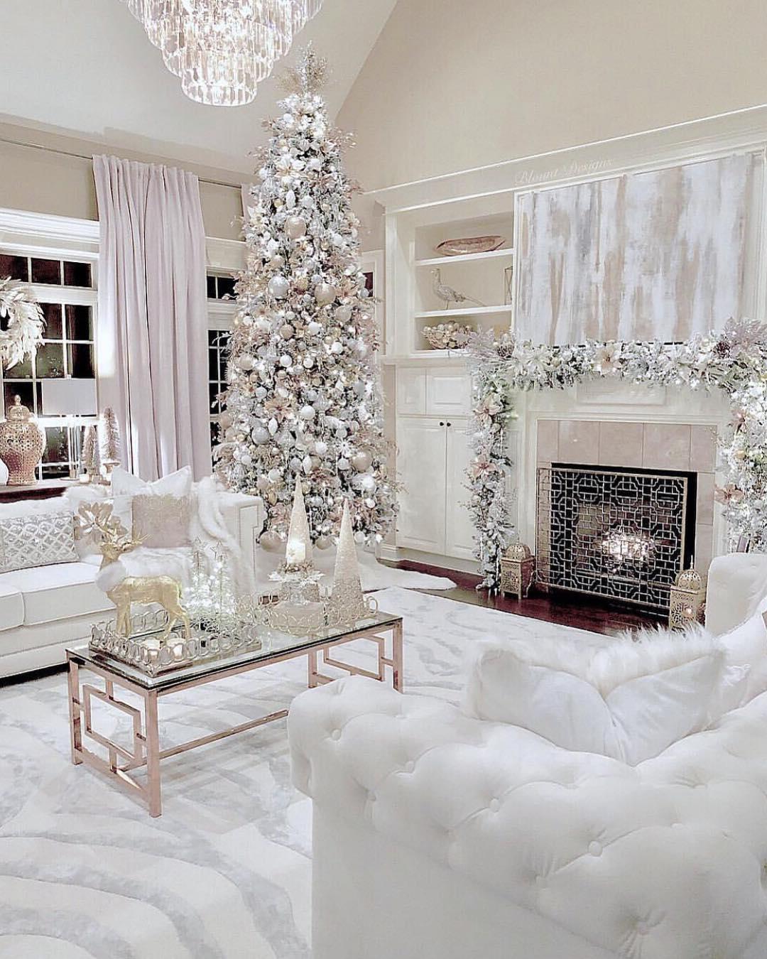 Silver & White Christmas Tree   Blount Designs