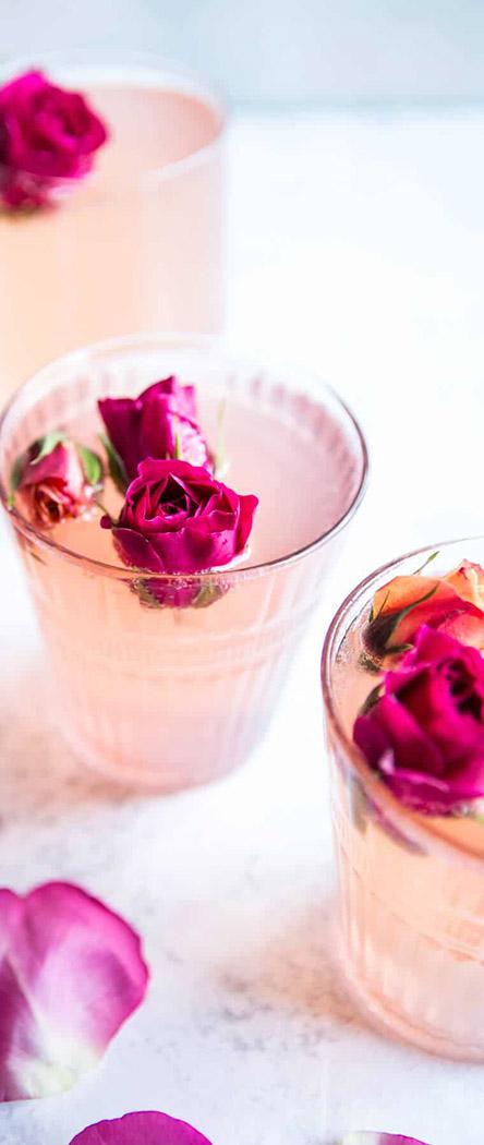 Valentine's Day Cocktail Recipes | Rose & Lemon Spritzer | Half Baked Harvest