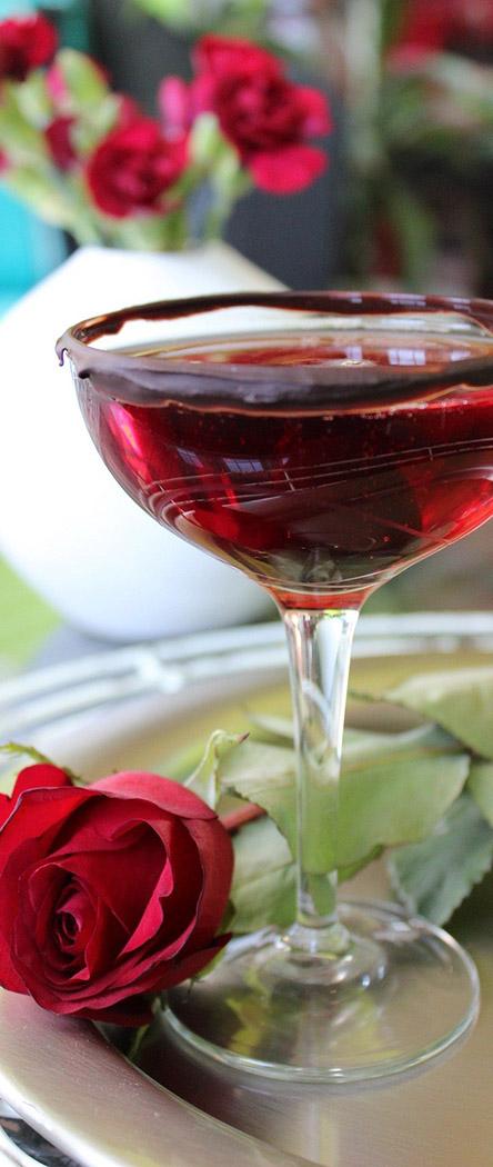Valentine's Day Martini Recipes | Chocolate Champagne Martini | Cork & Spoon
