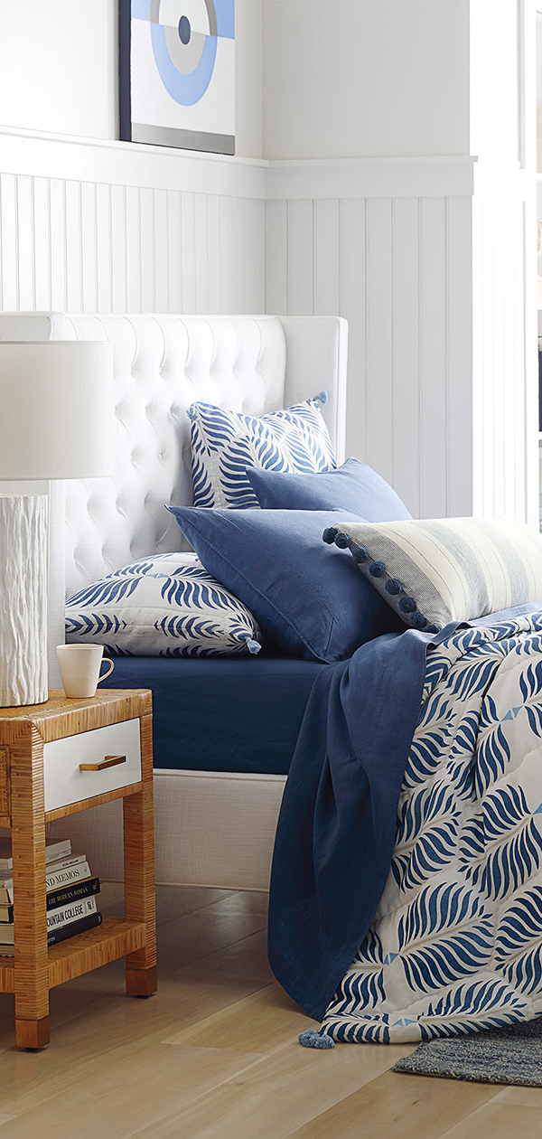 Granada Quilt in French Blue   Bedroom Decorating Ideas