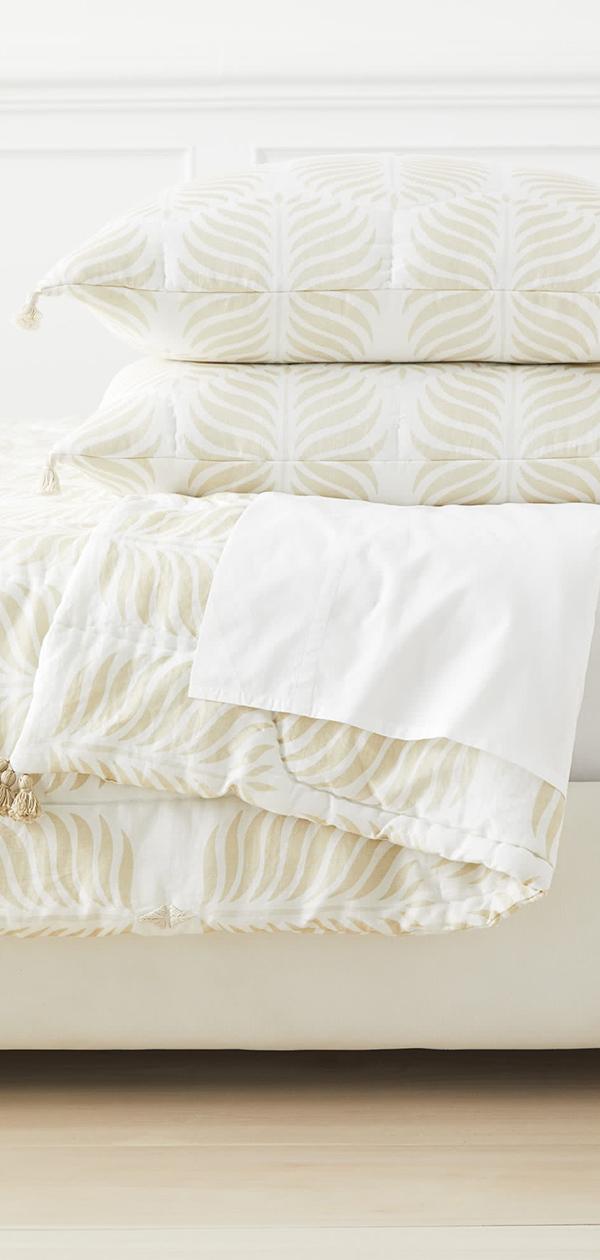 Granada Quilt in Sand   Bedroom Decorating Ideas