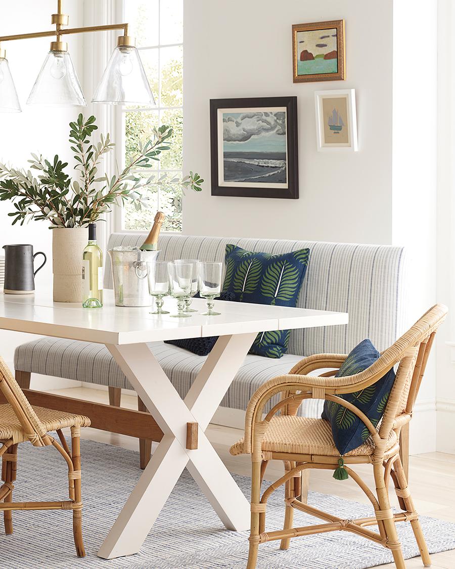 Modern Coastal Decorating Ideas | Granada Pillow in Navy Moss