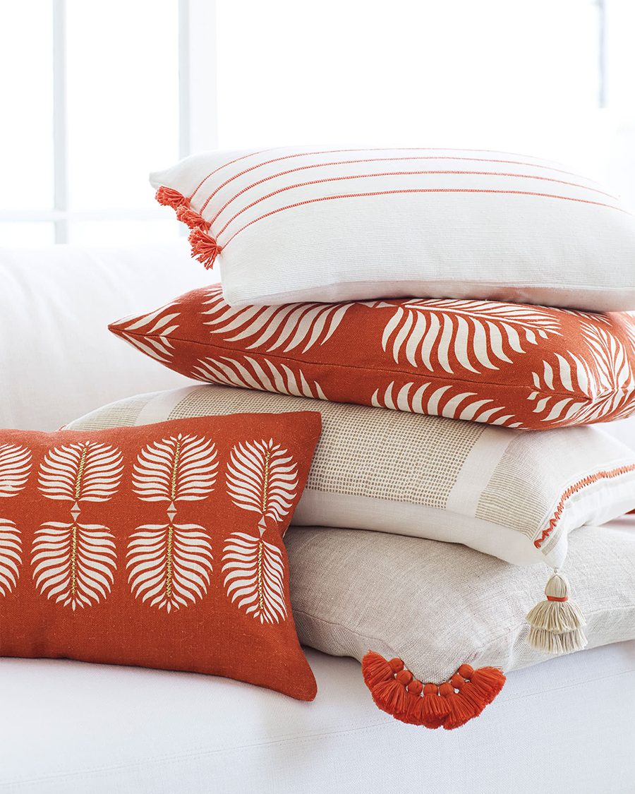 Granada Pillow Collection in Terracotta