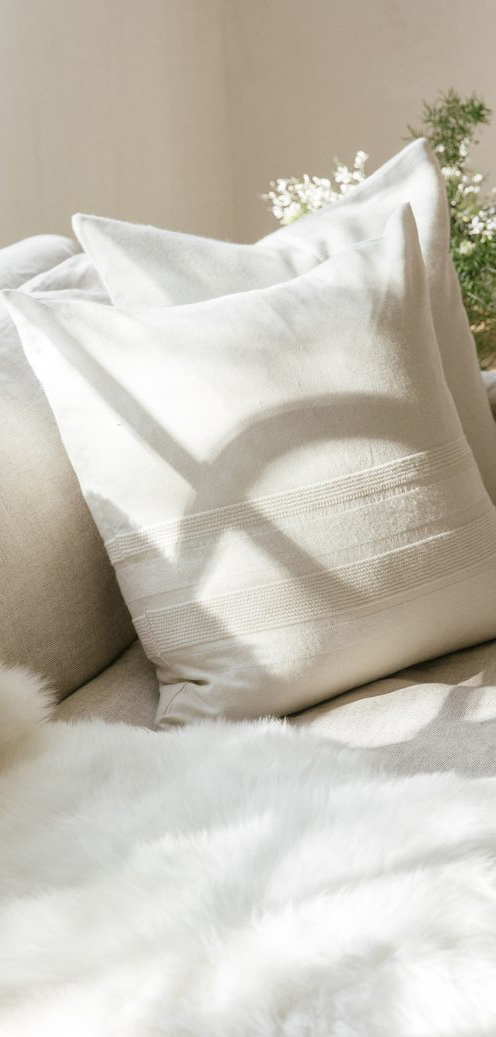 Alpaca Textured Stripe Pillow