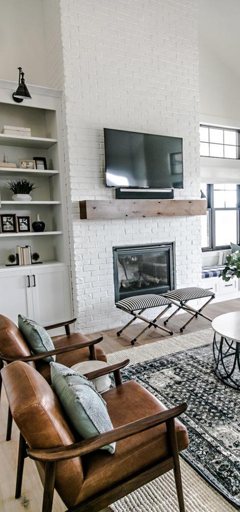 Modern Farmhouse Living Room   Designed by Sita Montgomery