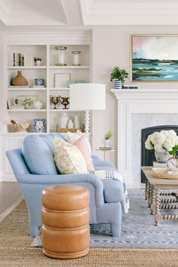 Bria Hammel | Coastal Living Room