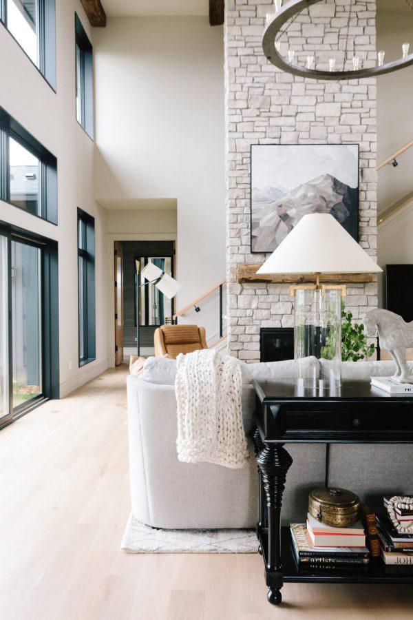 Bria Hammel | Modern Rustic Living Room