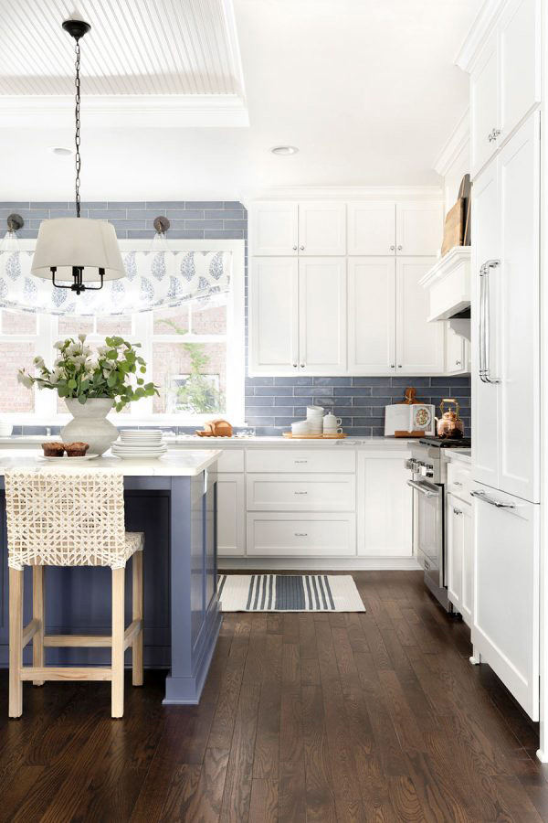 Bria Hammel   Blue Kitchen Ideas