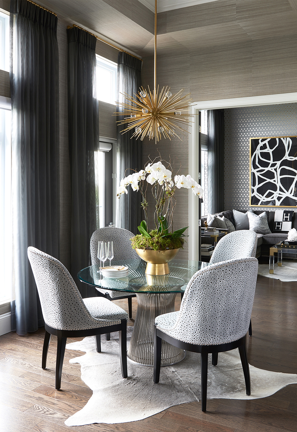 Glamorous Dining Room   Luxe on Broadway   Atmosphere Interior Design
