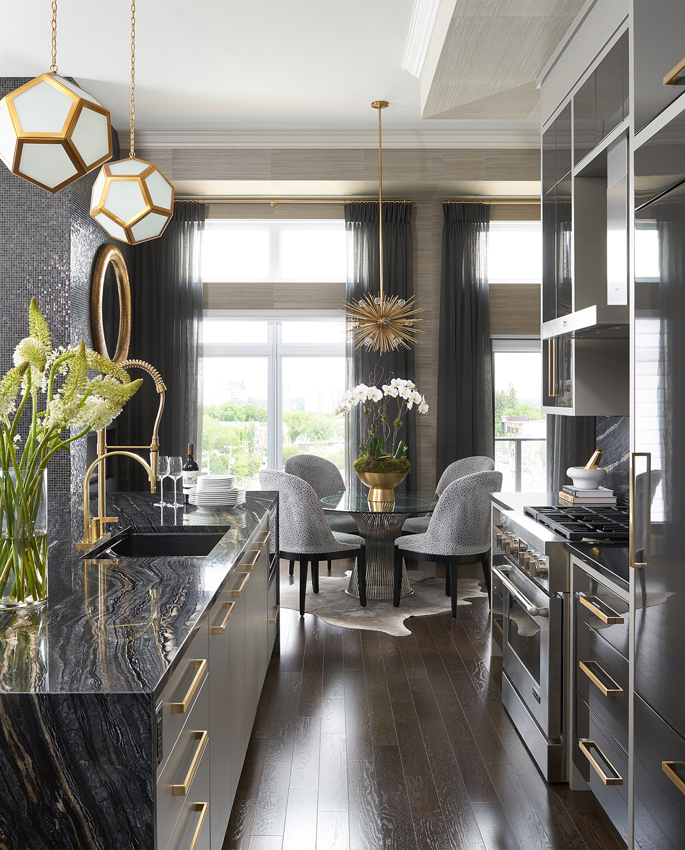 Glamorous Kitchen   Luxe on Broadway   Atmosphere Interior Design