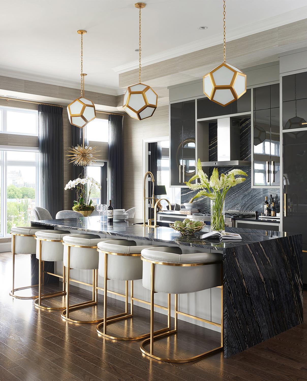 Glamorous Kitchen | Luxe on Broadway | Atmosphere Interior Design