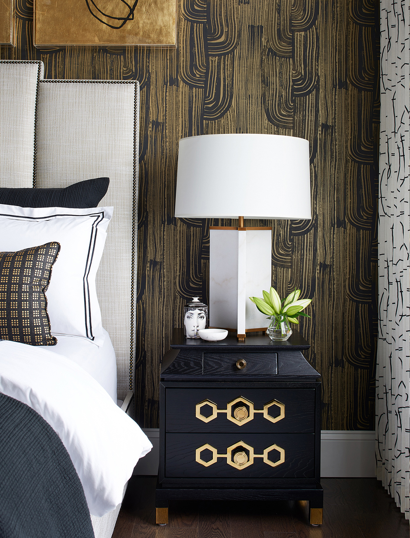 Glamorous Bedroom   Luxe on Broadway   Atmosphere Interior Design