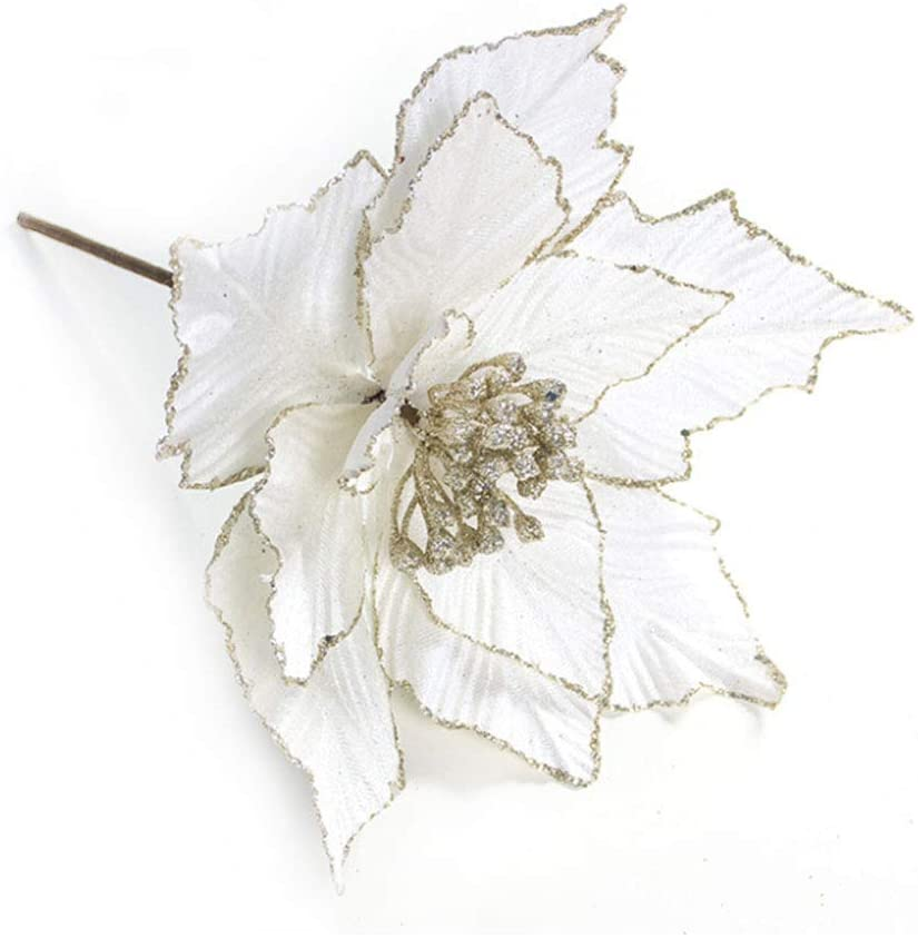 Artificial Poinsettia Christmas Ornament