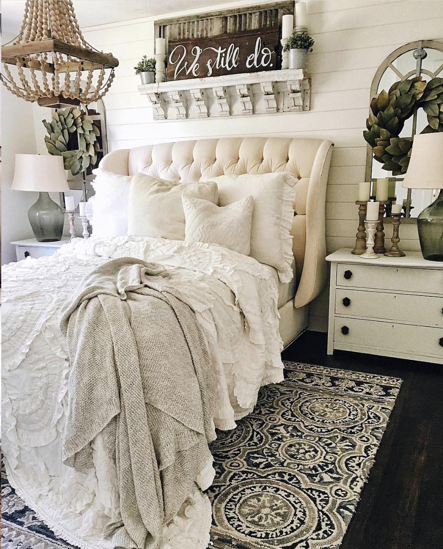 Shabby Chic Farmhouse Master Bedroom