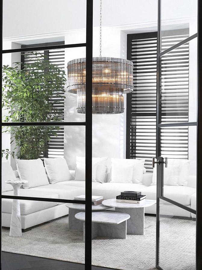 Modern White Living Room