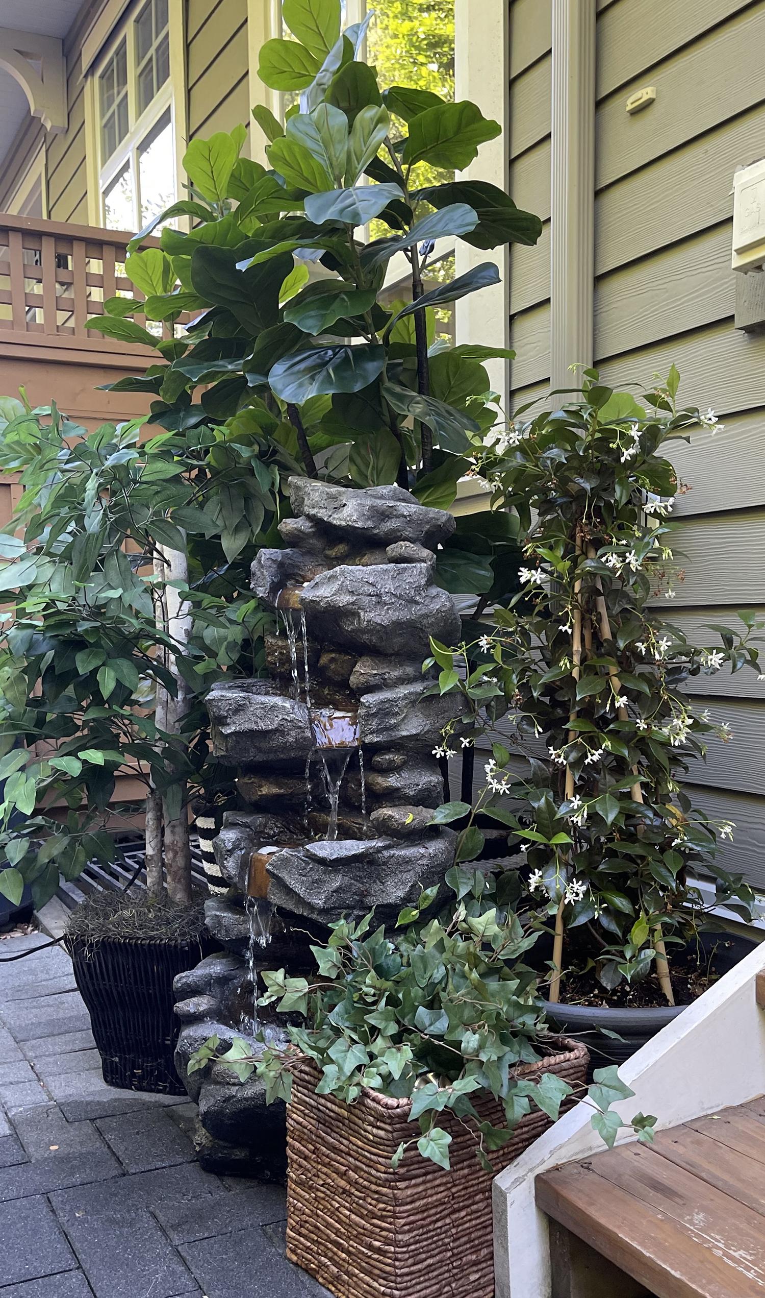 Outdoor Waterfall | Backyard Ideas