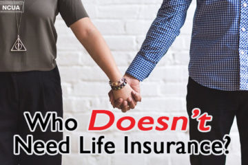 2 people holding hands with the words: who doesn't need life insurance?