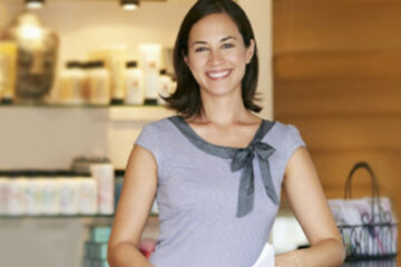 woman standing in shop