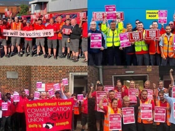 """CWU members up and down the country ready to vote """"Yes!"""""""