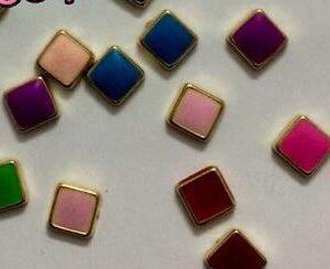 Multicolour square kundans 5 mm length