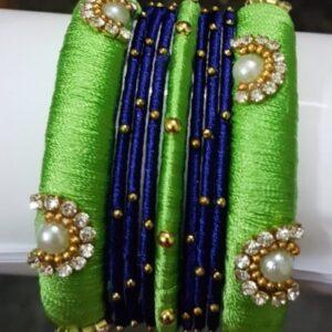 green n blue bangles