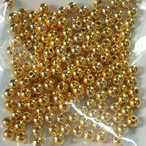Metal beads 4 mm