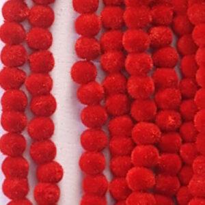Red velvet beads 6 mm