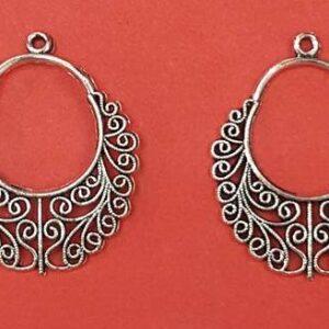 Silver pendant pair