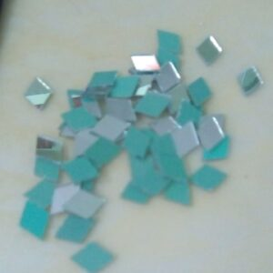 Glass mirrors diamond shape