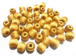 gold wrapped beads